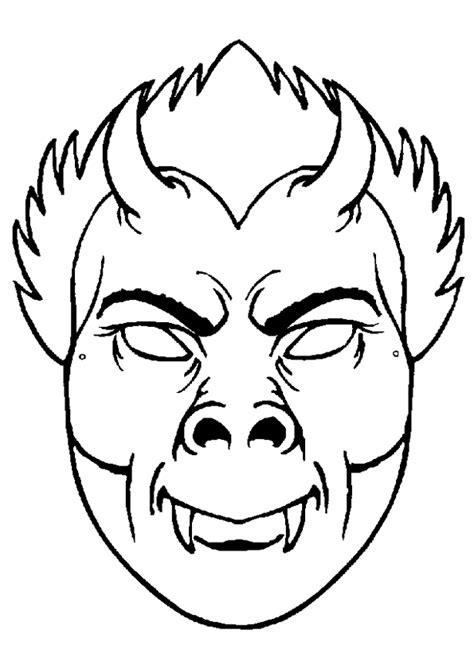 Coloriage Masque Vampire Sur Hugolescargotcom