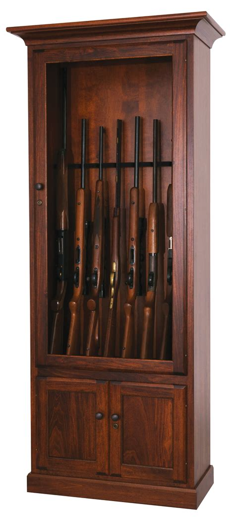 american  poplar  gun cabinet  dutchcrafters