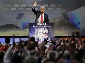 At NRA convention, Trump slams Clinton for 'heartless' gun ...