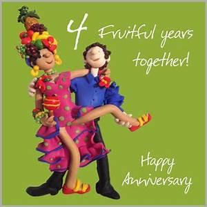 4th Wedding Anniversary Card | Wedding anniversary cards ...