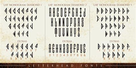 lhf monogram diamond font fontspring