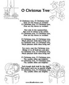 bluebonkers o christmas tree free printable christmas carol lyrics sheets favorite christmas