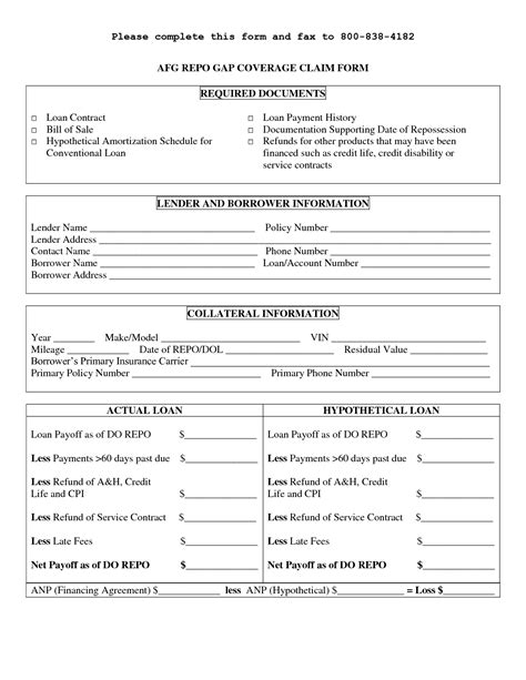 printable personal loan contract form generic