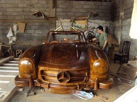 luxury lumberjack automobiles mercedes benz wood car