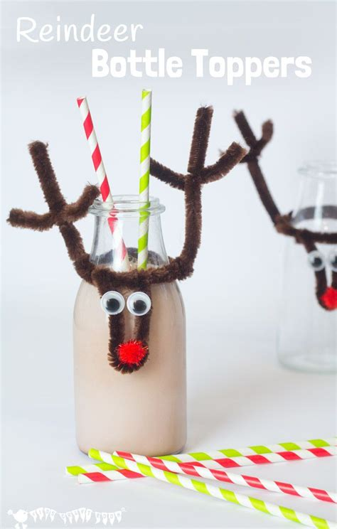 reindeer craft to sell reindeer bottle toppers winter crafts for
