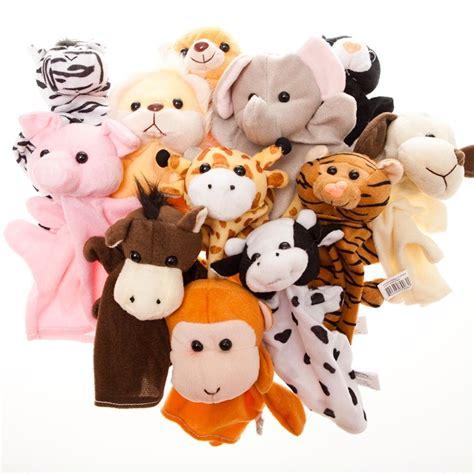 dozen velour animal puppet set kid preschool 137 | 61c%2BystYEOL