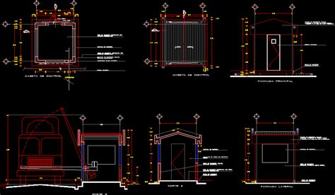 control booth dwg section  autocad designs cad
