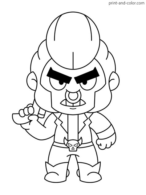 brawl stars coloring pages print  colorcom