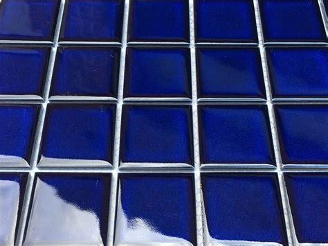 2x2 square cobalt blue sapphire blue shiny porcelain