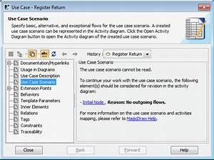 Creating Use Case Scenario From Activity Diagrams