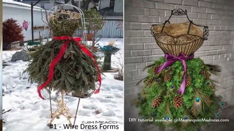 guide  diy dress form christmas trees youtube