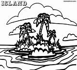 Island Coloring Colorings Popular 45kb 912px 1000 sketch template