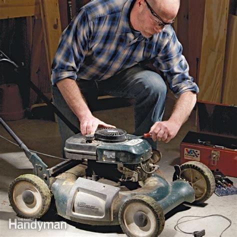 lawn mower repair broken cord  family handyman
