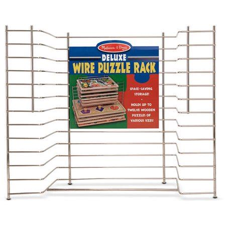 and doug puzzle rack doug deluxe metal wire puzzle storage rack for
