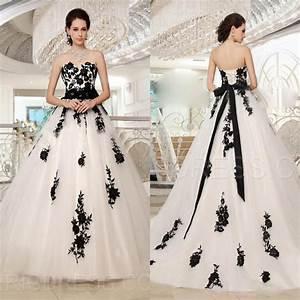 romantic plus size black and white wedding dresses bride With black and white wedding dresses plus size