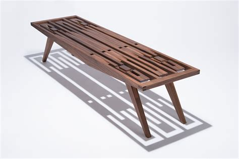 Designer Bench by A Handcrafted Wood Bench With No Hardware Design Milk