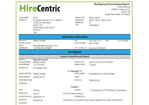 Advantage Background Check Sle Report Background Checks Pre Employment Screening Exacthire