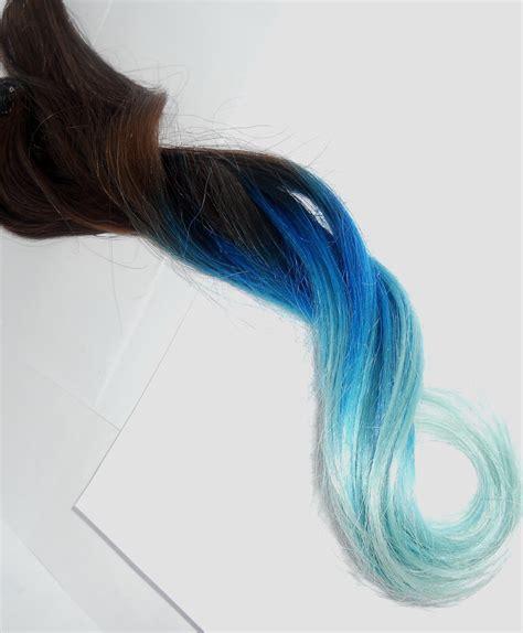 Blueaqua To Pastel Blue Aqua Tips T H I C K Full By