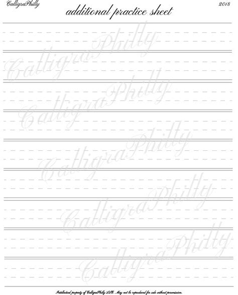 copperplate calligraphy blank practice sheet printable etsy