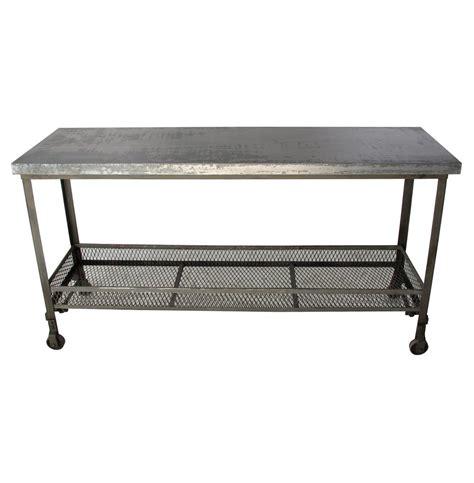 galvanized steel coffee table urban mercantile galvanized steel industrial console table