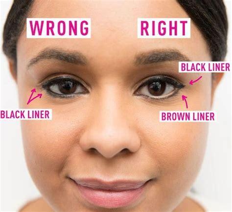 applying eyeliner wrong   bottom lids  beauty mistakes  didnt