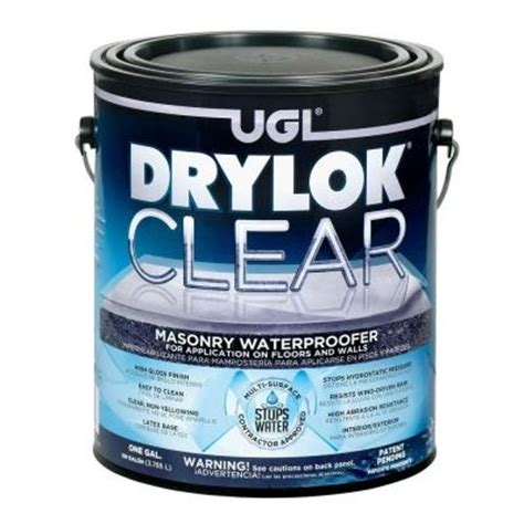 Drylok Floor Paint Home Depot by Drylok 1 Gal Clear Masonry Waterproofer 20913 The Home