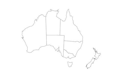 geo map australia  zealand