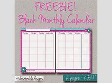 2 Page Monthly Calendar Template 2016 Calendar Template 2018