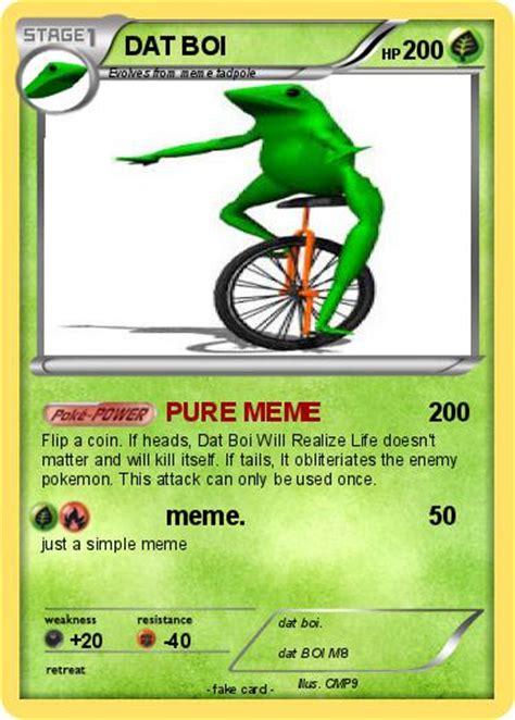 Dat Boi Memes - pok 233 mon dat boi 159 159 pure meme my pokemon card