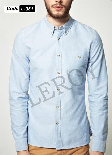 jual beli kemeja lengan panjang pria warna biru muda xxxxl 351 baru baju kemeja pria koleksi