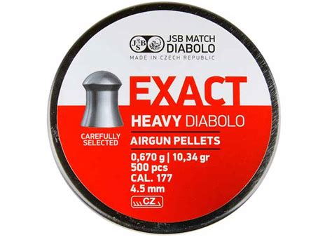jsb exact heavy 177 pellets jsb diabolo exact heavy 177 cal 10 34 grains domed