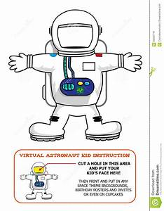 Astronaut Suit Cut Out Activity For Kids For Birthdays Or ...