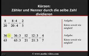 Brüche Berechnen Und Kürzen : br che k rzen und erweitern youtube ~ Themetempest.com Abrechnung
