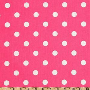 Premier Prints Polka Dot Candy Pink/White - Discount