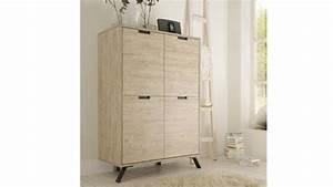 Meuble De Rangement Salon : meuble de rangement nekho 4 portes en bois et pi tement ~ Dailycaller-alerts.com Idées de Décoration