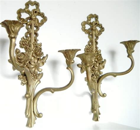 decorative candle sconces baroque ornate candle wall sconces vintage eclectic