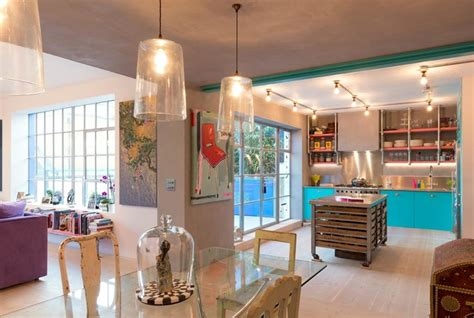 wallpaper designs for kitchens houzz tour hues meet industrial chic in a 6972