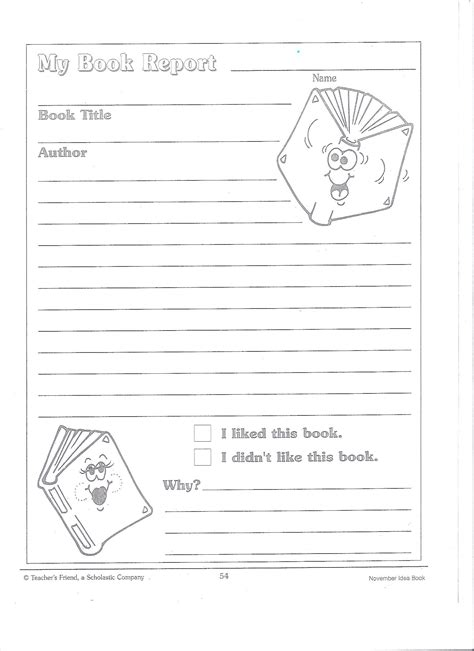 Printable Book Report Forms For 3rd Graders  3rd Grade Book Report Form Template Worksheets On