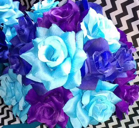 17 Piece Wedding Package 22 Rose Colors Malibu Blue