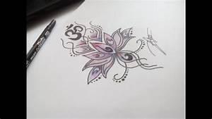 Dessin Fleurs De Lotus : dessin fleur de lotus et ohm youtube ~ Dode.kayakingforconservation.com Idées de Décoration