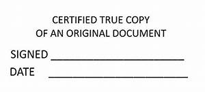 certified true copy traxx printer 9013 58 x 22 mm With notary true copy of original document