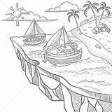 Island Floating Coloring Designlooter Graphic Vector 1300 1300px 03kb sketch template