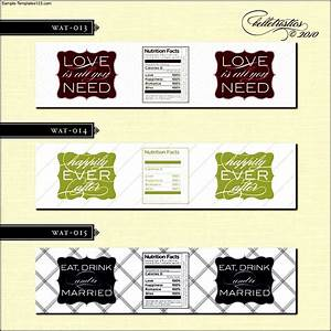 Free Wedding Water Bottle Label Template - Sample ...