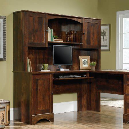 Sauder L Shaped Desk Dover Oak Finish by Sauder Cornerdeskstore