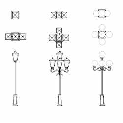 Cad Block of Lantern, street light in dwg 2D wireframe cad blocks Pinterest Street lights