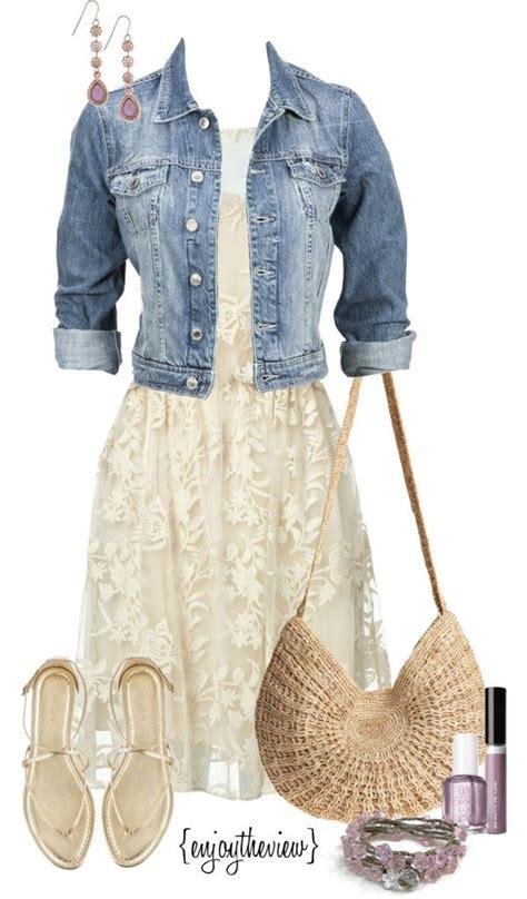 Love the denim jacket with the dress! | Spring u0026 Summer Fashion | Pinterest | Denim jackets ...
