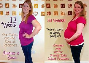 Twin Pregnant Belly Week By Week