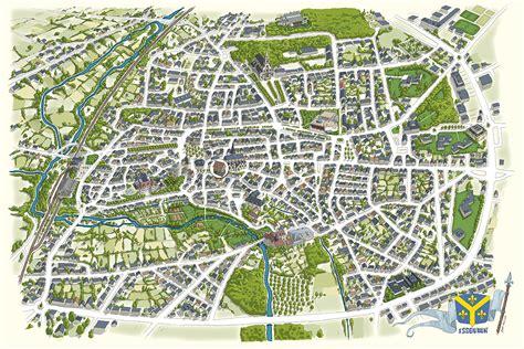 Mairie Ville De Plan De Création Graphique Et Joseph Illustration Plan De