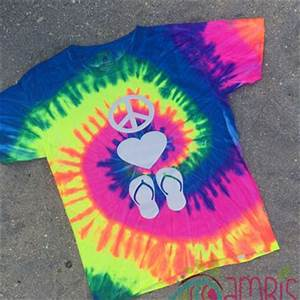 Shop Neon Tie Dye Shirt on Wanelo