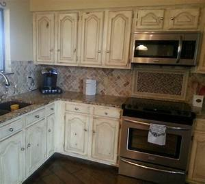 How, To, Paint, Distressed, Kitchen, Cabinets